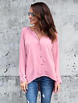 Недорогие -Жен. Блуза Очаровательный Уличный стиль Однотонный