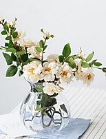 abordables -Fleurs artificielles 1 Une succursale Classique / Européen Camélia Fleur de Table