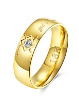cheap -Men's Stainless Steel Band Ring - Circle Cool Rock Gold Ring For Daily Work