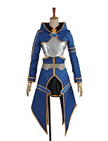cheap -Inspired by Sword Art Online Cosplay Anime Cosplay Costumes Cosplay Suits Other Long Sleeves Coat Skirt Gloves Apron More Accessories