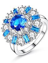 abordables -Femme Fleur Anneau de bande - Forme de Cercle Rétro / Elégant Bleu Bague Pour Mariage / Fiançailles / Cérémonie