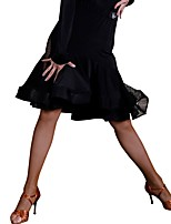 cheap -Latin Dance Tutus & Skirts Women's Training Ice Silk Lace Natural Skirts