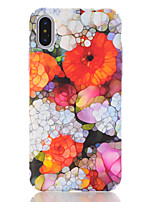 baratos -Capinha Para Apple iPhone X iPhone 8 Estampada Capa traseira Flor Rígida PC para iPhone X iPhone 8 Plus iPhone 8 iPhone 7 Plus iPhone 7