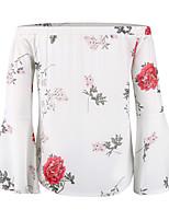 Недорогие -Жен. Блуза Классический Геометрический принт