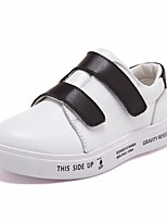 cheap -Girls' Boys' Shoes Cowhide Spring Moccasin Loafers & Slip-Ons for Casual White Black