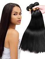cheap -Peruvian Hair Straight Human Hair Weaves 50g x 3 Hot Sale Extention Natural Color Hair Weaves Human Hair Extensions All Christmas Gifts