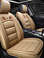 cheap -ODEER Seat Covers Beige PU Leather Cartoon for universal All years All Models