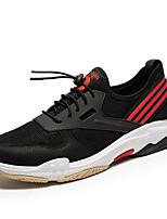 Недорогие -Муж. обувь Тюль Весна Лето Удобная обувь Кеды для Повседневные на открытом воздухе Черный Черный/Красный