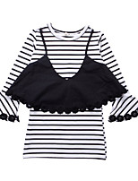 cheap -Kids Girls' Striped Long Sleeves Dress