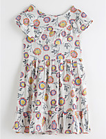 cheap -Girl's Daily Jacquard Dress Summer Cute Basic White