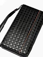 cheap -Men's Bags PU Clutch Zipper for Casual Spring Fall Black Coffee