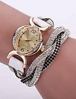 baratos -Mulheres Quartzo Bracele Relógio Chinês Relógio Casual PU Banda Casual Fashion Preta Branco Azul Vermelho Verde Cinza Roxa Fúcsia