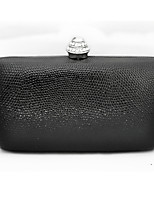 cheap -Women's Bags PVC / Metal Evening Bag Crystals for Wedding / Event / Party Black