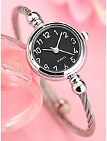 abordables -Mujer Cuarzo Reloj Pulsera Chino Cronógrafo Aleación Banda Minimalista Brazalete Plata Dorado