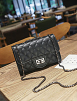 cheap -Women's Bags PU Shoulder Bag Zipper for Casual / Office & Career Black