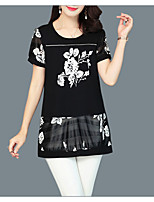 cheap -Women's Street chic T-shirt - Floral Print