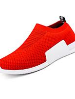 abordables -Homme Chaussures Tulle Eté Confort Mocassins et Chaussons+D6148 pour Décontracté Noir Rouge