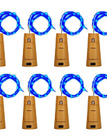 abordables -BRELONG® 2m Guirlandes Lumineuses 20 LED RVB + chaud Rose Jaune Rouge Bouchon de bouteille de vin Bouchon de cuivre Décorative 5V 8pcs