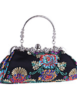 cheap -Women's Bags Cloth Evening Bag Embroidery for Wedding / Event / Party Black / Red