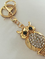 cheap -Keychain Jewelry Gold Owl Imitation Diamond Alloy Animals Fashion Daily