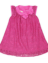 cheap -Girl's Daily Patchwork Dress, Rayon Polyester Summer Sleeveless Cute Fuchsia