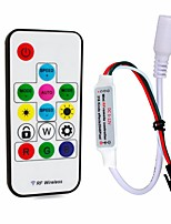 cheap -1pc 12-24V Remote Controlled with DC Connector RF Wireless Strip Light Accessory RGB Controller Controller Plastic for RGB LED Strip Light