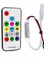 abordables -1pc 12-24V Télécommandé avec connecteur DC RF sans fil Accessoire de feuillard Contrôleur RGB Manette Plastique pour la lumière de bande
