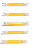 cheap -5pcs COB 12V Bulb Accessory Luminous LED Chip Aluminum for DIY LED Flood Light Spotlight 3W