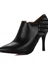 abordables -Mujer Zapatos Semicuero Primavera / Otoño Confort / Innovador Tacones Tacón Stiletto Dedo Puntiagudo Negro / Beige / Rojo