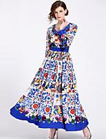 cheap -SHIHUATANG Women's Street chic Boho Swing Dress - Floral, Print