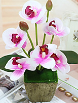 cheap -Artificial Flowers 1 Modern / Contemporary Orchids / Plants Tabletop Flower / Not Included