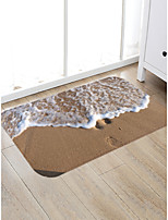 cheap -Creative Sports & Outdoors Modern Doormats Area Rugs Bath Mats Flannelette, Superior Quality Rectangle Striped Lines / Waves Graphic Rug