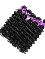 cheap -Malaysian Hair Deep Wave Curly Human Hair Weaves 6-Pack 100% Virgin Comfortable High Quality Hot Sale New Arrival Natural Color Hair