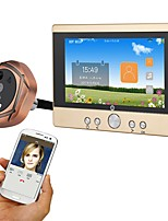 cheap -MOUNTAINONE SY501 720P WiFi Peephole Door Viewer Wired Photographed Recording 5inch Hands-free Telephone 480*854Pixel One to One video
