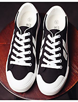 Недорогие -Муж. обувь Полотно Весна / Осень Удобная обувь Кеды Белый / Черный