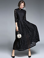 cheap -SHIHUATANG Women's Vintage Street chic Swing Dress - Solid Colored Lace