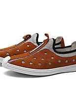 Недорогие -Муж. обувь Тюль Замша Кожа Весна Лето Удобная обувь Мокасины и Свитер для Повседневные Черный Серый Коричневый