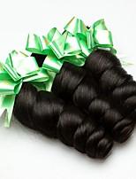 Недорогие -3 Связки Индийские волосы / Африканские косы Свободные волны Необработанные / Натуральные волосы Подарки / Косплей Костюмы / Человека ткет Волосы 8-28 дюймовый Естественный цвет
