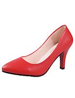 abordables -Femme Chaussures Polyuréthane Printemps été Confort Chaussures à Talons Talon Aiguille Bout pointu Noir / Argent / Rouge