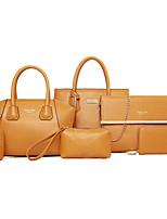 cheap -Women's / Unisex Bags PU Leather Bag Set 6 Pieces Purse Set Rivet / Zipper for Event / Party / Formal Black / Red / Yellow