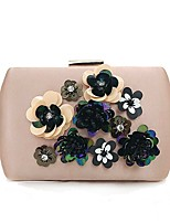 cheap -Women's Bags Terylene Evening Bag Crystals / Flower for Event / Party Blushing Pink