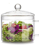 cheap -1 pc Glass Heatproof High Quality Creative Serving & Salad Bowl Dining Bowl Mixing Bowl, Dinnerware
