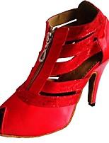 cheap -Women's Latin Salsa Satin Heel Indoor Customized Heel White Black Red Customizable