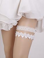 baratos -Renda Clássico Wedding Garter  -  Perola Imitação Kits Ligas Casamento Festa / Eventos