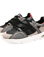 cheap -Men's Shoes Tulle / Leatherette Fall / Winter Comfort Sneakers Walking Shoes Gray / Green / Black / White