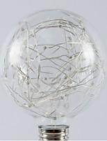 baratos -1pç 1W - lm E26/E27 Lâmpada Redonda LED 20pcs Contas LED SMD Estrelado Branco Quente RGB 200-240V