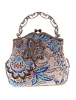 cheap -Women's Bags Polyester / Denim Evening Bag Embroidery for Wedding / Event / Party Black / Red / Purple