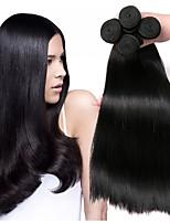 Недорогие -Малазийские волосы Прямой Накладки из натуральных волос Ткет человеческих волос Удлинитель / Горячая распродажа Черный Все