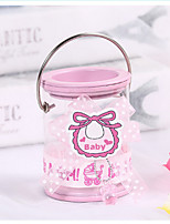 cheap -Cylinder Metalic Favor Holder with Candy Jars and Bottles - 12