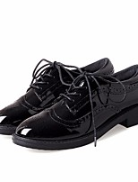 abordables -Femme Chaussures Polyuréthane Printemps Automne Confort Oxfords Talon Bas Bout rond pour Noir
